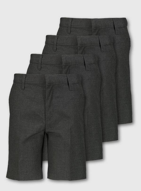 Grey Classic School Shorts 4 Pack - 12 years