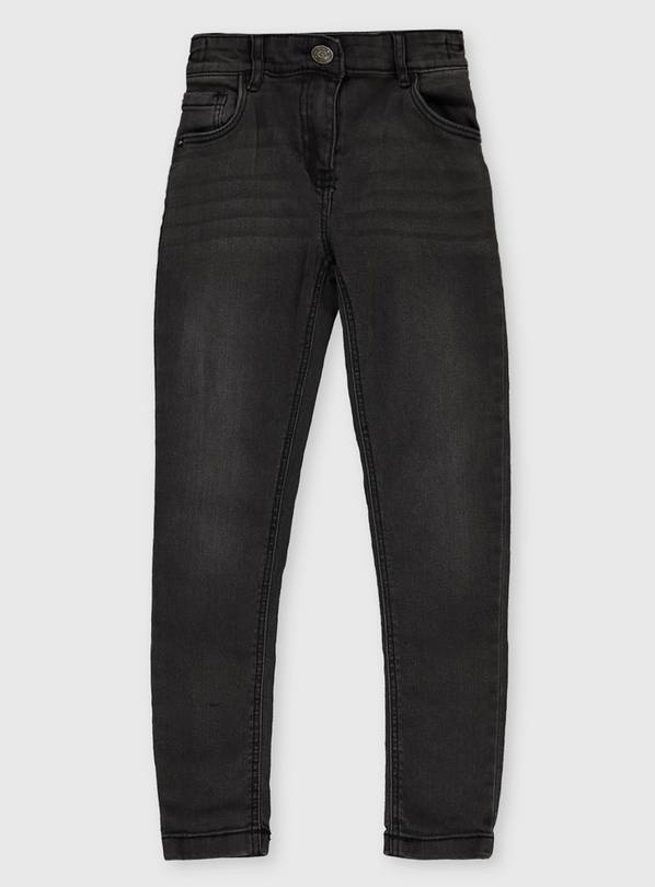Washed Black Skinny Fit Super Stretch Jeans - 6 years