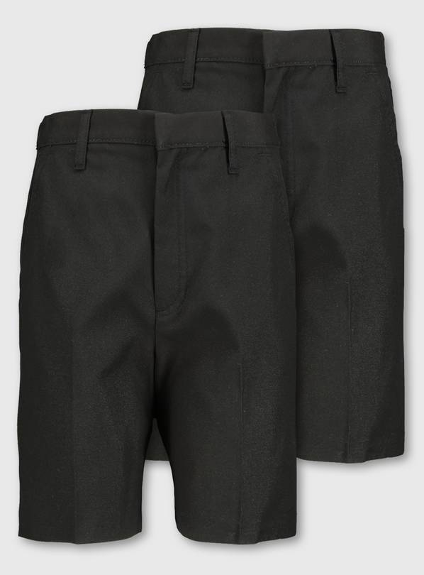 Black Classic School Shorts 2 Pack - 3 years