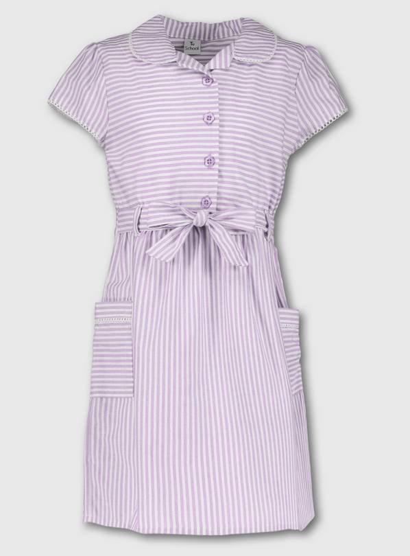 Lilac Stripy School Dress - 8 years