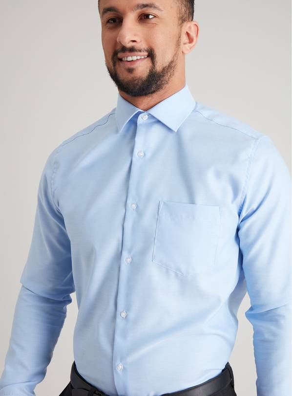 Blue Royal Oxford Pure Cotton Tailored Fit Shirt - 18.5