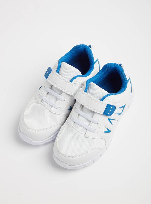White & Blue School Trainers - 7 Infant
