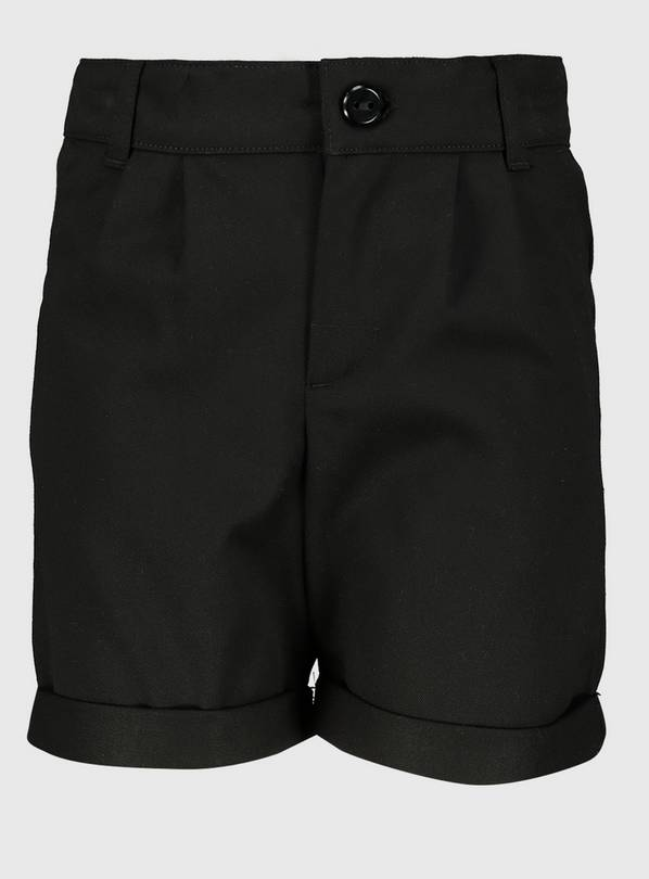 Black School Shorts With Stretch - 3 years