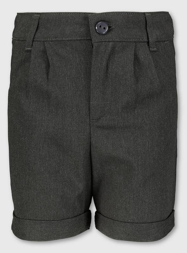 Grey School Shorts With Stretch - 14 years