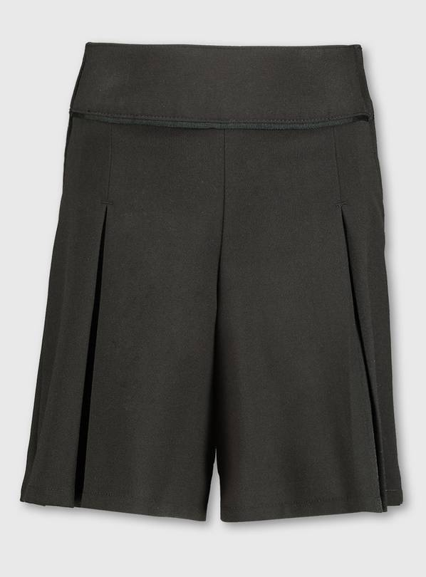 Black School Culottes With Stretch - 6 years