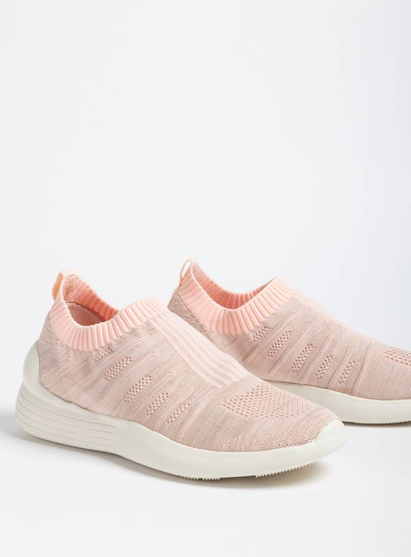 REFLEX Pink Slip On Knitted Trainer - 3