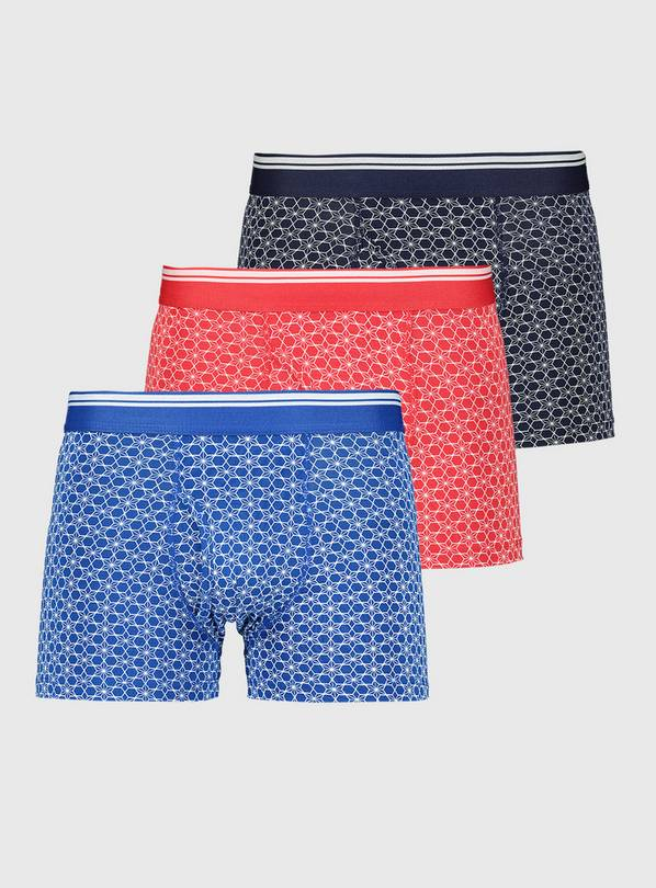 Bright Geo Circle Print Trunk 3 Pack - S