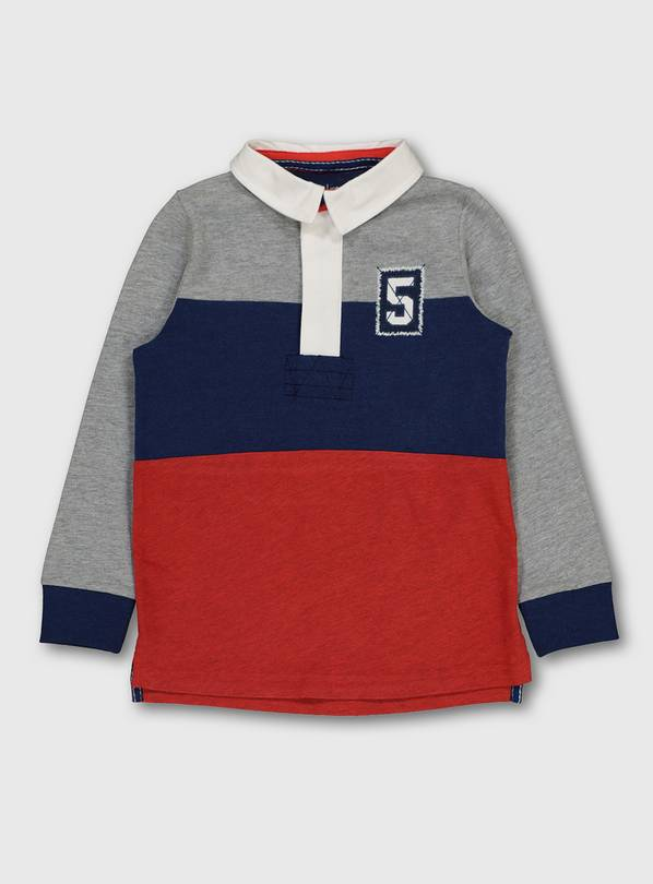 Multicoloured Block Stripe Rugby Shirt - 3 years