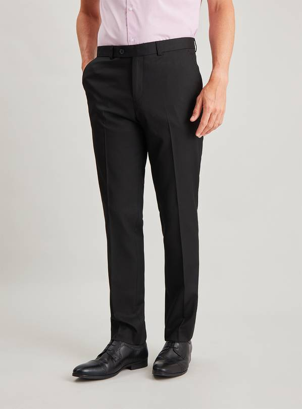 Black Slim Fit Trousers With Stretch - W36 L33
