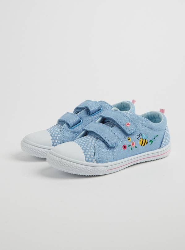 Pale Blue Ladybird Twin Strap Pumps - 5 Infant