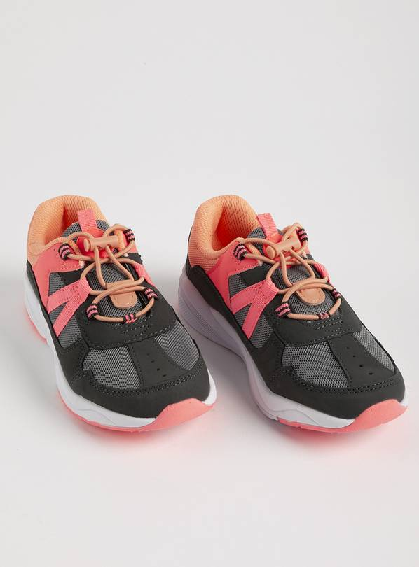 Pink & Grey Toggle Hiker Trainers - 13 Infant