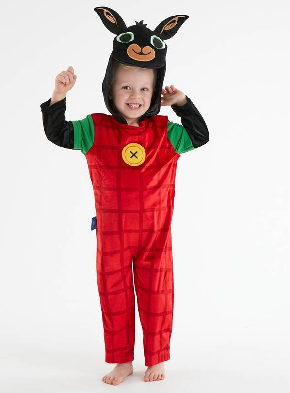 Bing Red All In One Character Costume With Hood - 1-2 years