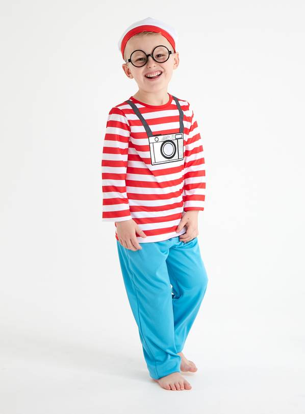 Where's Wally Red Costume Set - 5-6 years