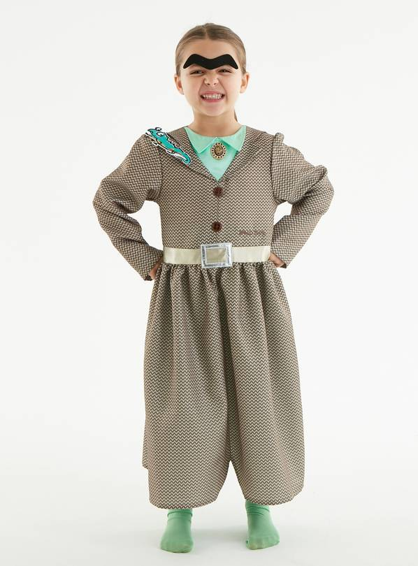 Roald Dahl Miss Trunchbull Brown Costume - 5-6 years
