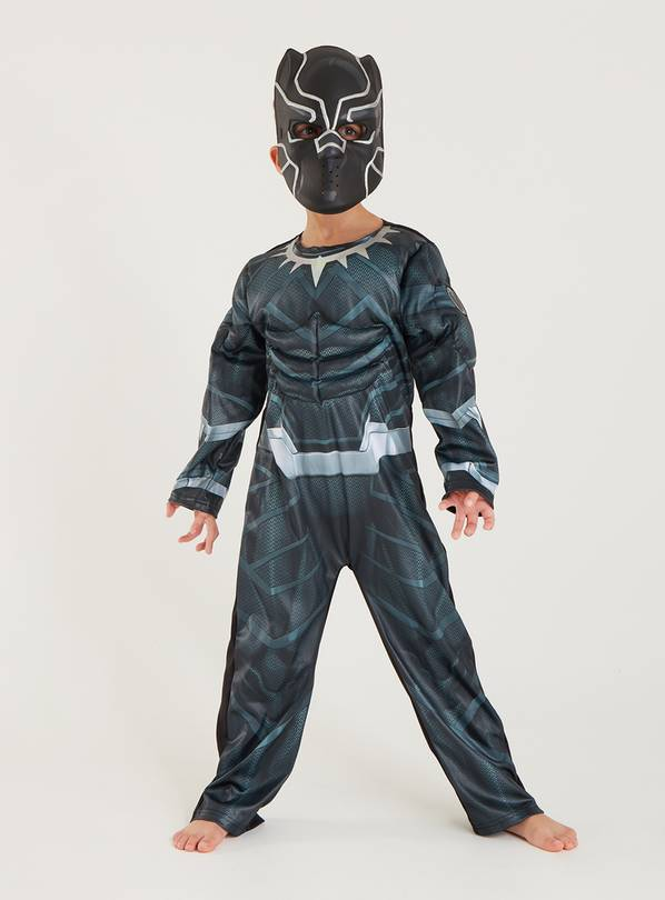Disney Marvel Black Panther Costume & Mask - 7-8 years