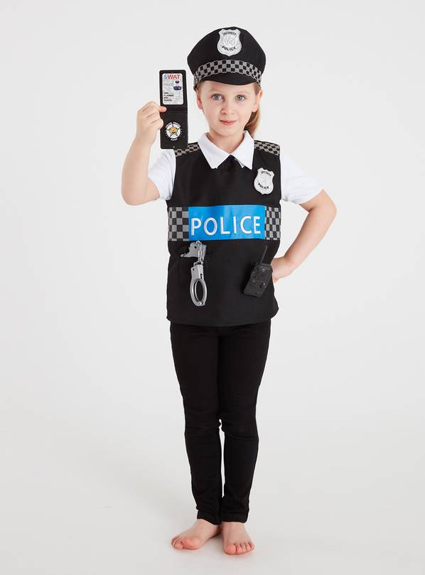 Police Officer Reversible Costume Set - 3-4 Years
