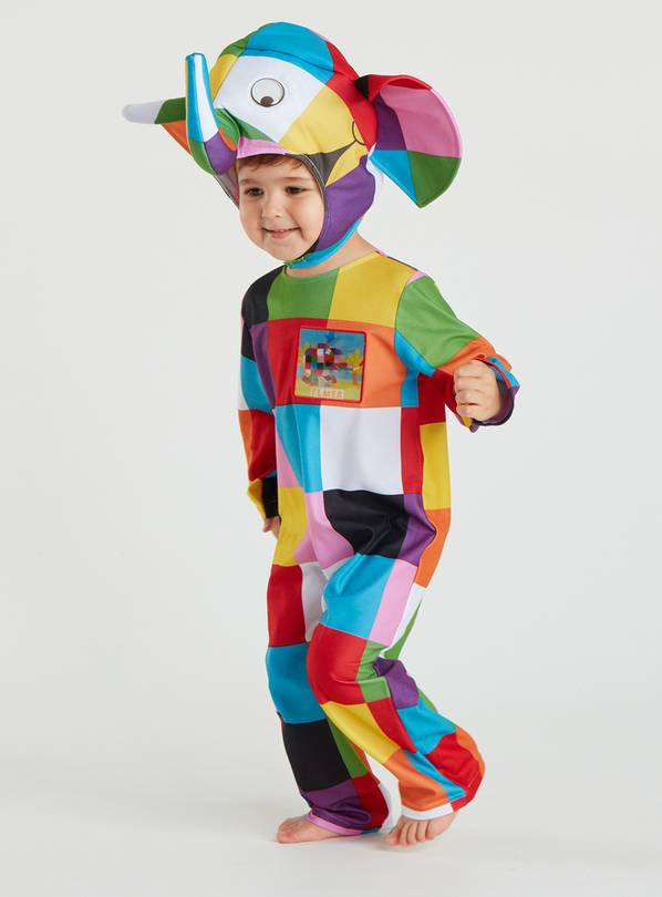 Elmer Multicoloured Costume - 5-6 years