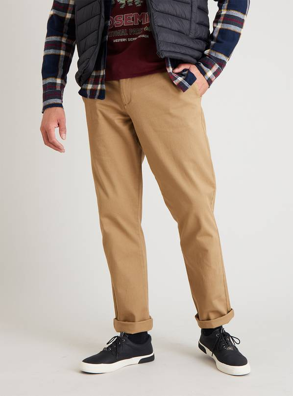 Stone Tapered Fit Chinos With Stretch - W40 L30