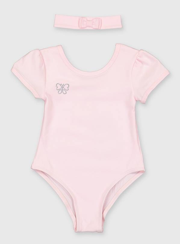 Pink Ballet Leotard & Headband Set - 4 years