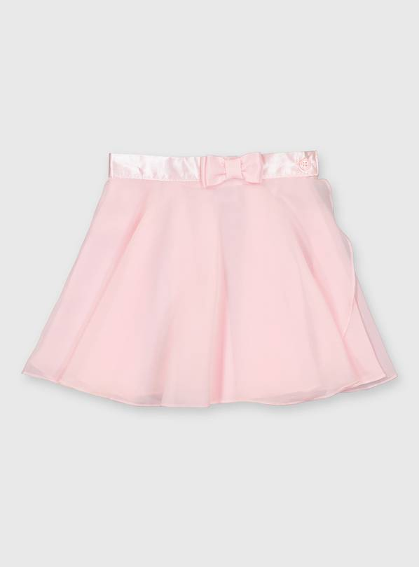 Pink Bow Detail Ballet Skirt - 2 years