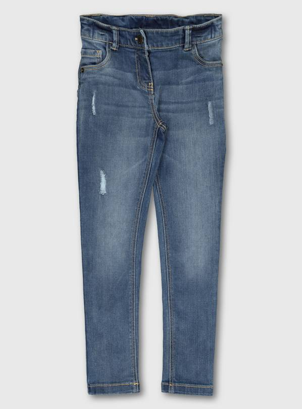 Blue Mid Wash Super Stretch Denim Jeans - 5 years