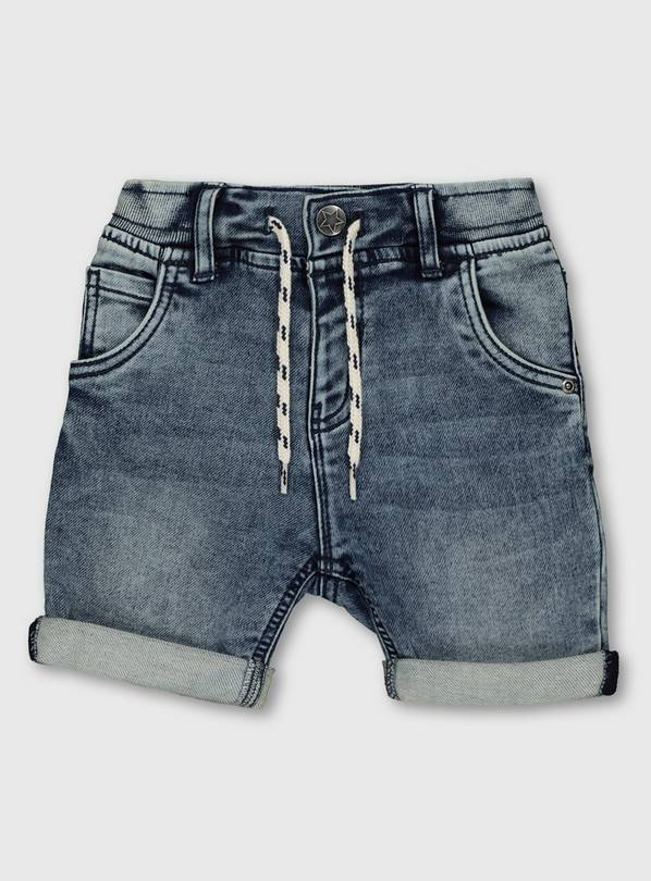 Blue Midwash Denim Shorts - 1-1.5 years