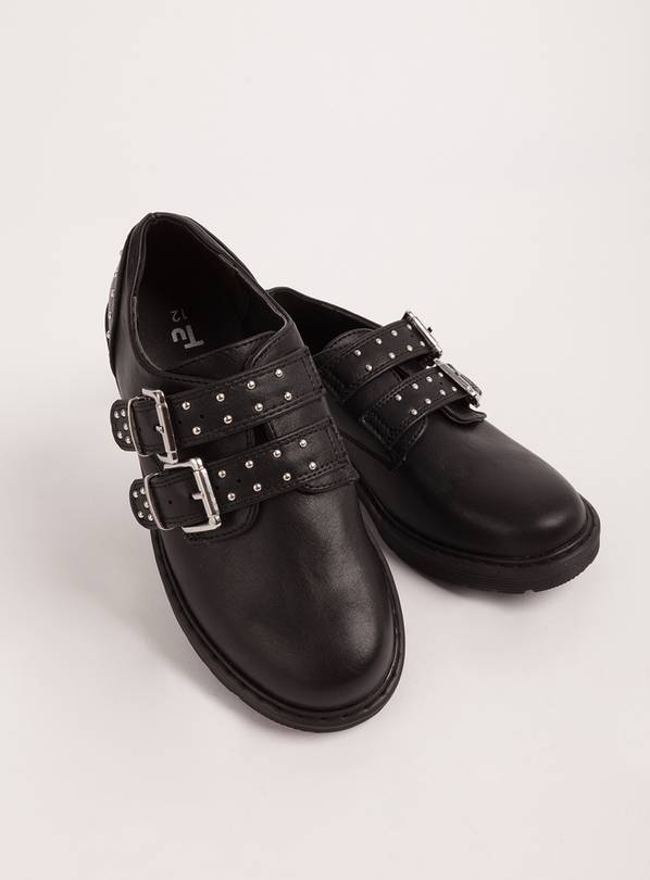 Black Studded Buckle Shoes - 13 Infant