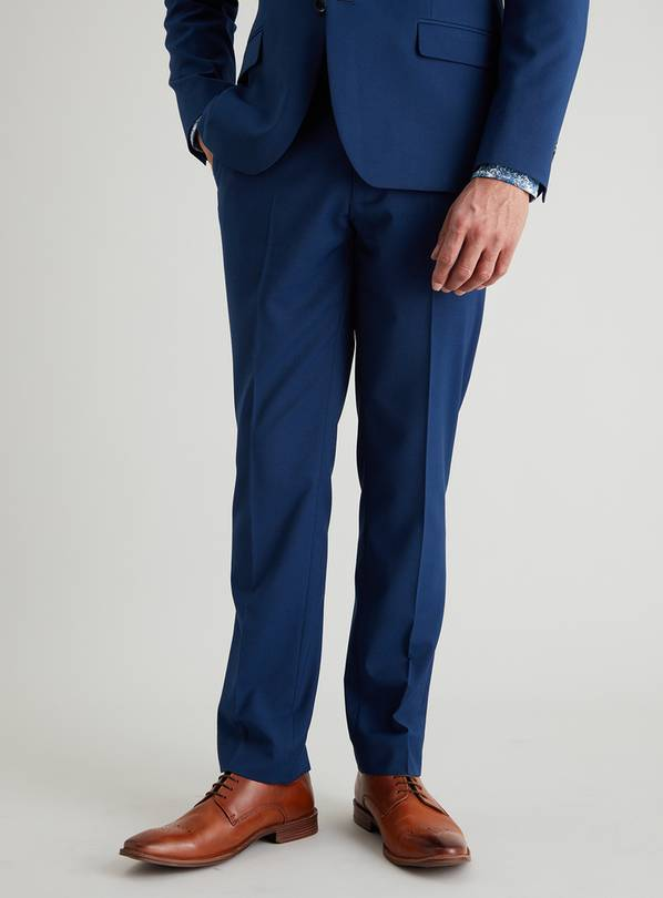 Blue Slim Fit Suit Trousers - W36 L31