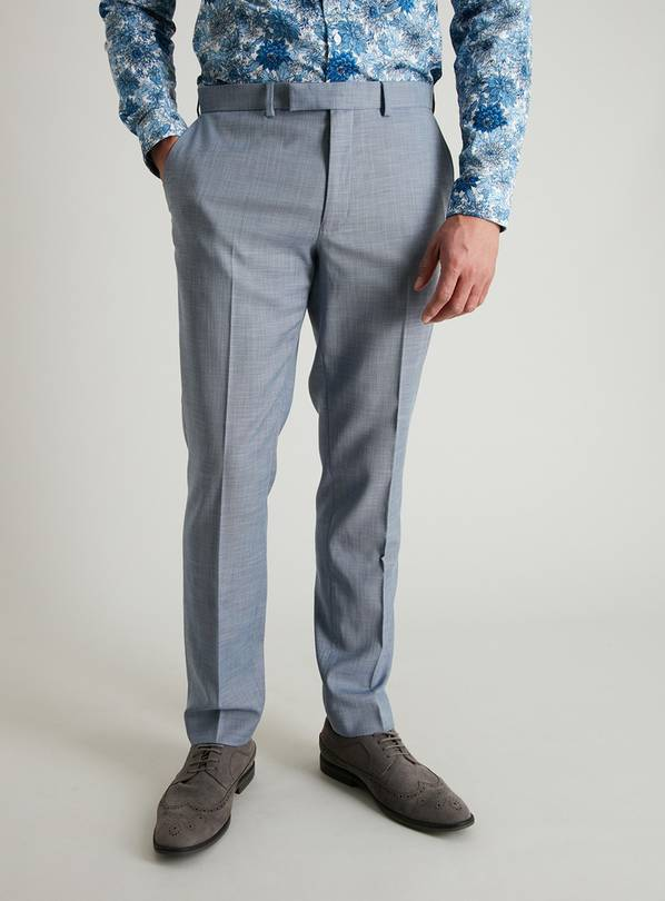 Blue Slim Fit Suit Trousers - W38 L31