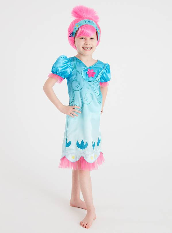 Trolls Poppy Blue Costume Set - 7-8 years
