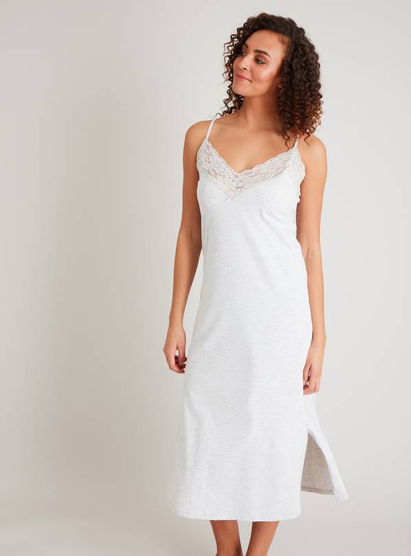 Light Grey Marl Maxi Nightdress - 22