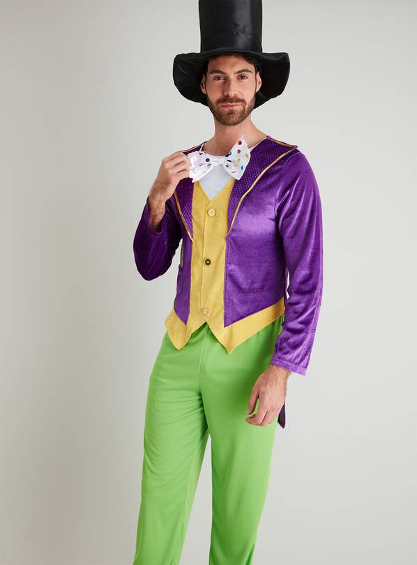 Roald Dahl Willy Wonka Purple Costume - XS