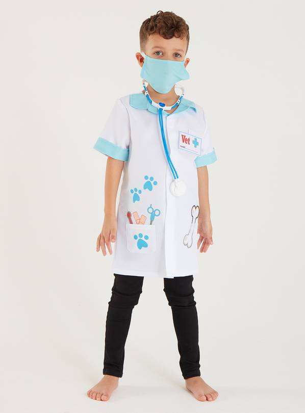 White Vet Costume 4 Piece Set - 5-6 years