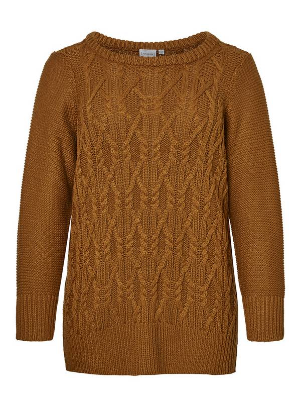 Brown Knitted Jumper - 14-16