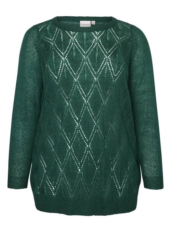 Green Knitted Long Sleeve Jumper - 14-16