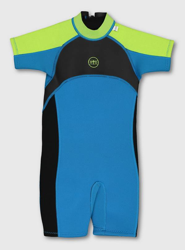 Blue Short Wetsuit - 11-12 years
