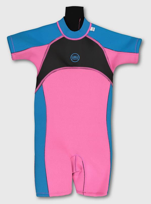 Pink Short Wetsuit - 9-10 years