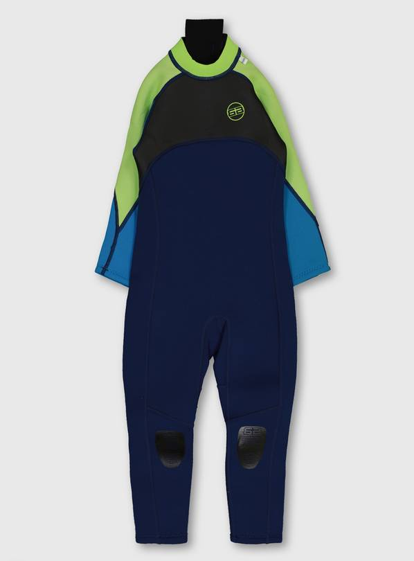 Blue & Lime Long Wetsuit - 10-11 years