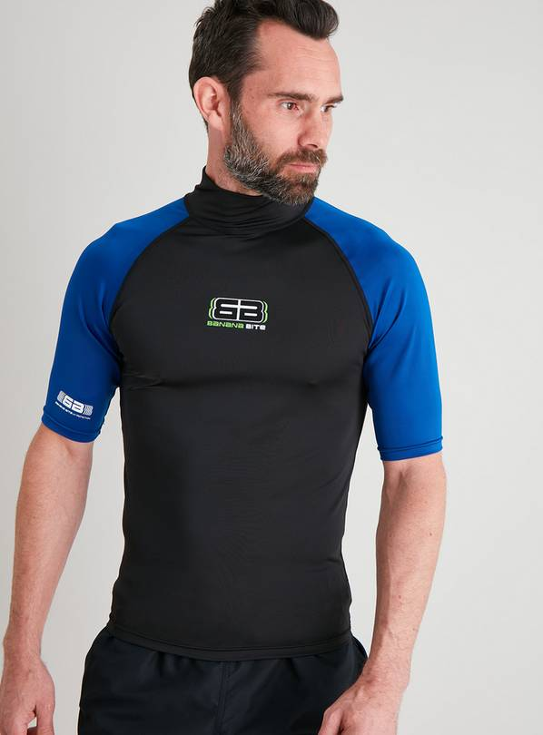 Blue & Black Rash Vest - S