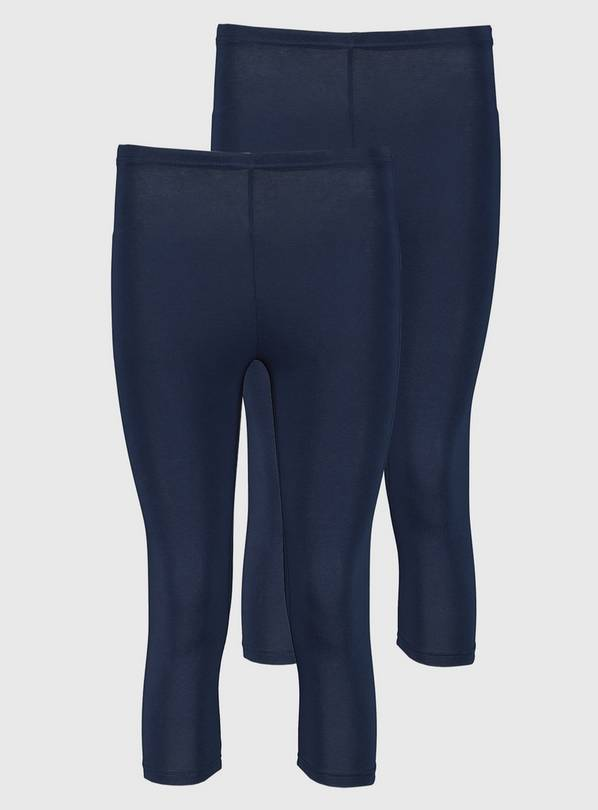Navy Blue Cropped Leggings 2 Pack - 16-18
