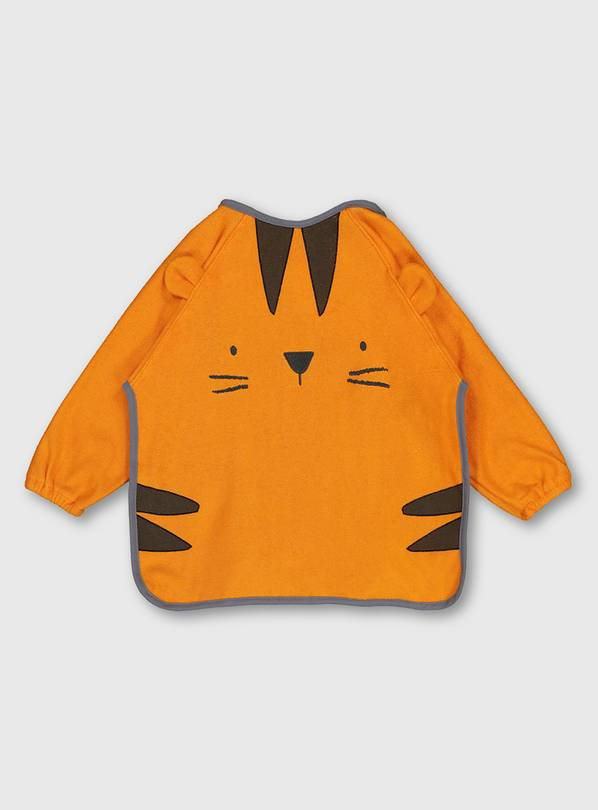 Orange Tiger Long Sleeve Bib - One Size