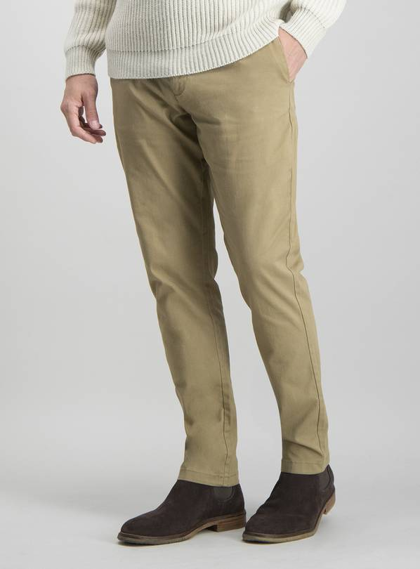 Stone Slim Fit Chinos With Stretch - W44 L30