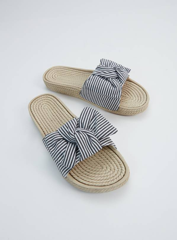 Nautical Bow Beach Mule - 4