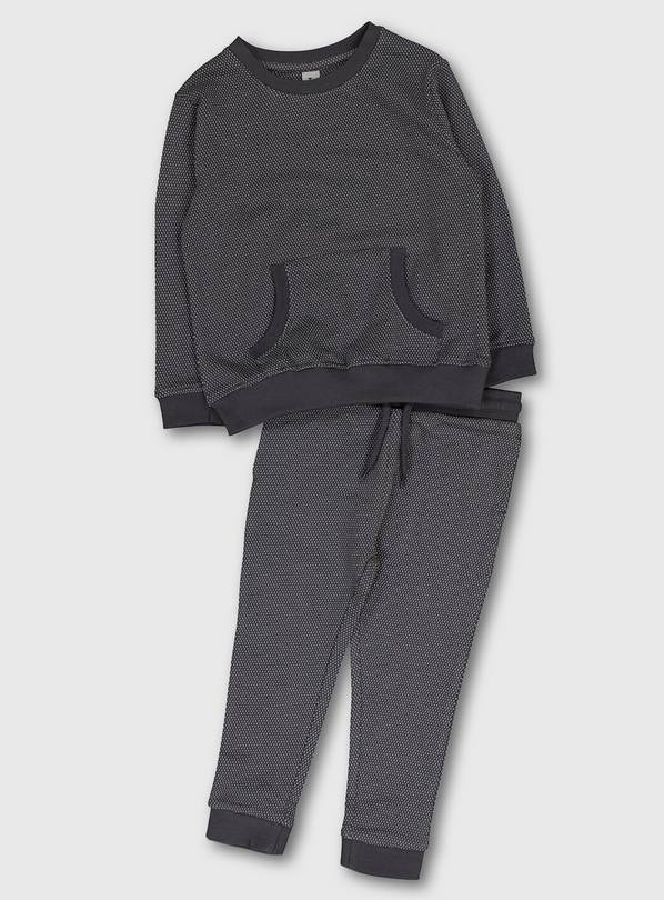 Dark Grey Fleck Sweatshirt & Joggers - 1-1.5 years