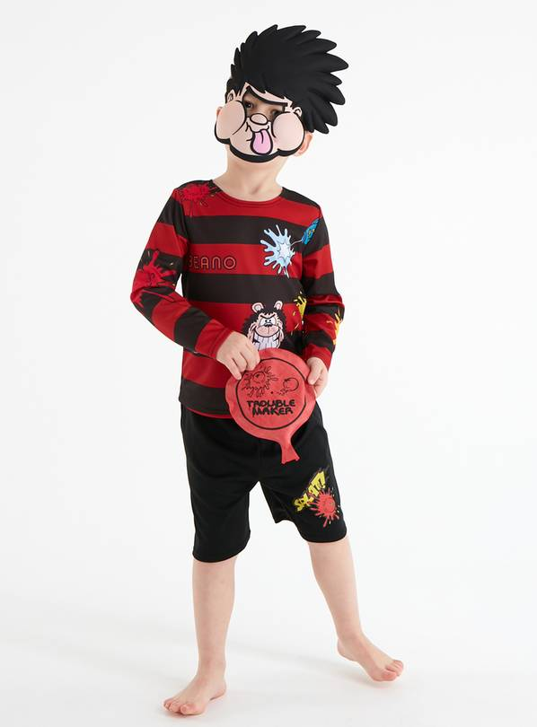 Beano Dennis The Menace Red Costume Set - 5-6 years
