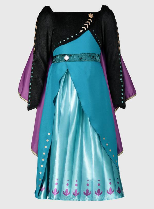 Disney Frozen 2 Black & Teal Anna Costume - 2-3 years