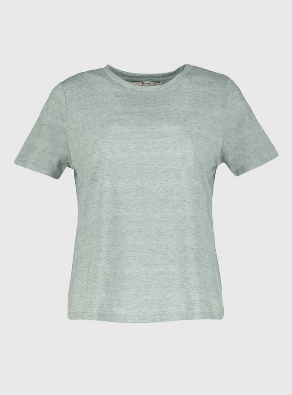 Sage Green Washed Neppy Slouchy T-Shirt - 22