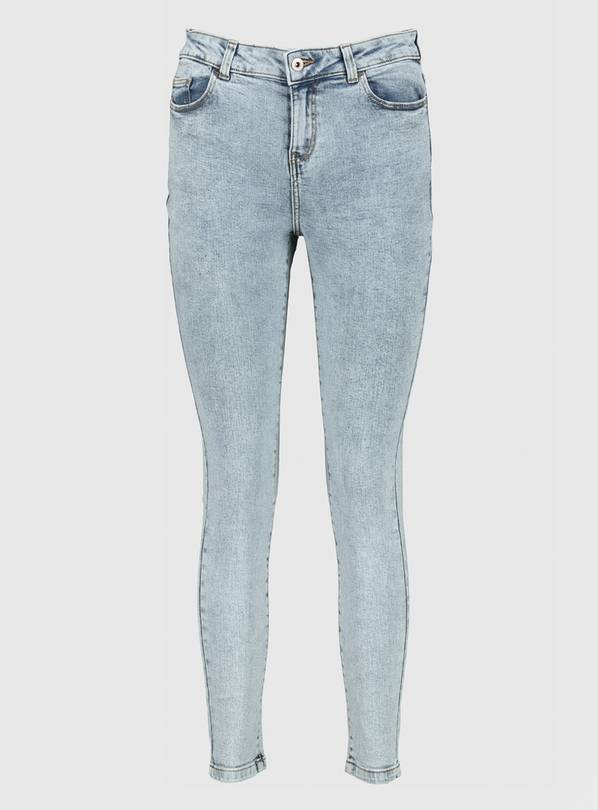 Light Acid Wash Blue Skinny Jeans - 14
