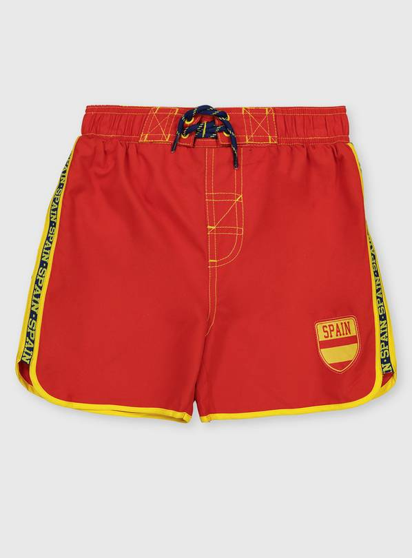 Spain Red Swim Shorts - 9 years