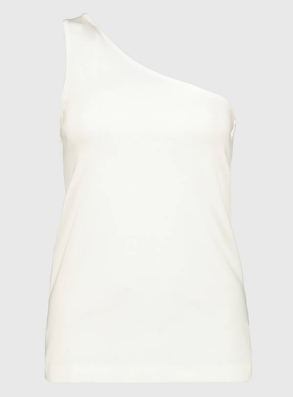 White One Shoulder Vest Top - 10